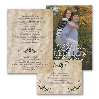 Love Burlap - ValStyle Invitation - White