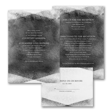 Watercolor Gem - ValStyle Invitation - Black - White