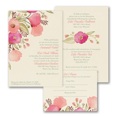 Perfect Poppies - ValStyle Invitation - Ecru