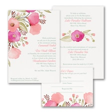 Perfect Poppies - ValStyle Invitation - White