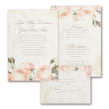 Warm Roses - ValStyle Invitation - White