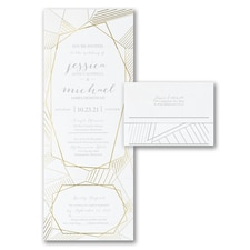 With RSVP Cards: Geometric Impressions Design