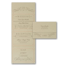 Seal and Send Invitation: Extravagantly Classic Design