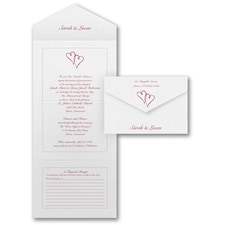 With RSVP Cards: Hearts Desire