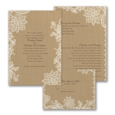 rustic invitation: Linen Luxury