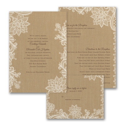Linen Luxury - ValStyle Invitation - Ecru