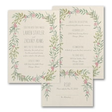 Charming Wreath - ValStyle Invitation - Ecru