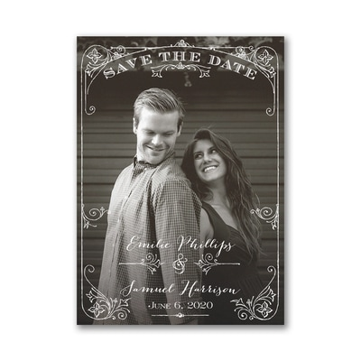 Two Become One - Save the Date Card