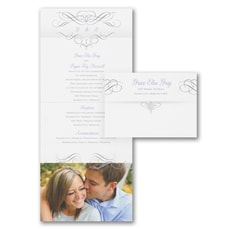 All In One Invitation: Lovely Swirls