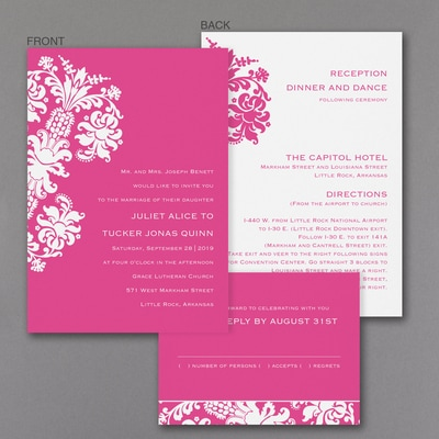 Splendid Damask - ValStyle Invitation