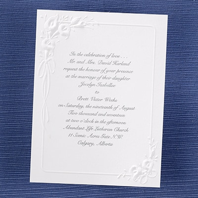 Calla Lily Bouquet - Invitation