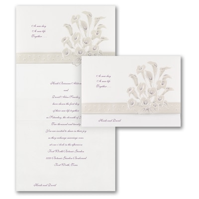 Passionate Lilies - Invitation