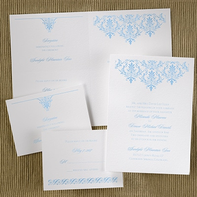 Stylish Damask - Sep 'n Send - White Texture