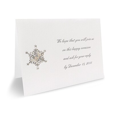 Shimmering Snowflake - Response Card and Envelope