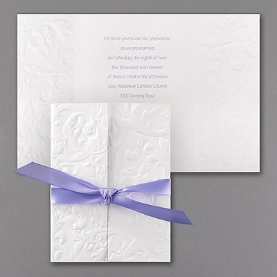 Embossed Damask - Invitation