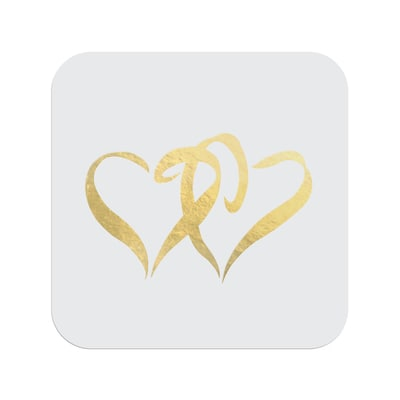 Gold Swish Hearts - Seal