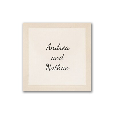 Embossed Ecru Square - Personalized