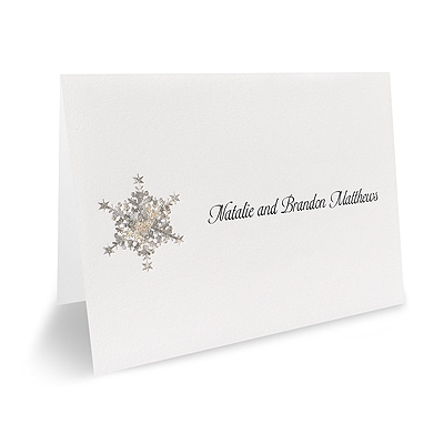 Shimmering Snowflake - Thank You Note