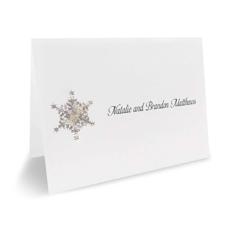 Shimmering Snowflake - Invitation > Wedding Invitations