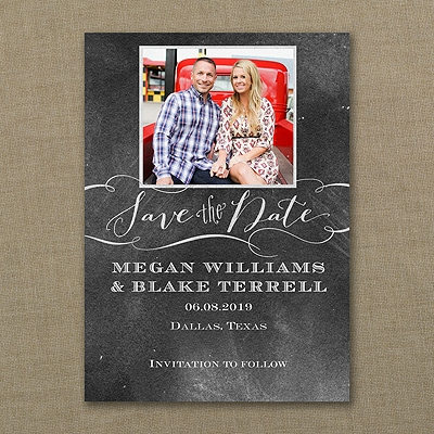 Chalkboard Date - Save the Date Card