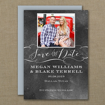 Chalkboard Date - Save the Date Magnet