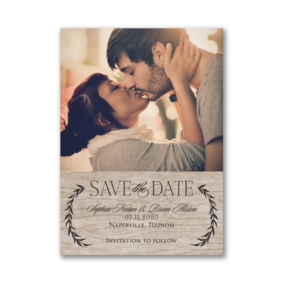 Leafy Natural - Save the Date Card