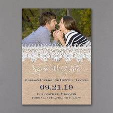 Save The Date: Romantic Lace