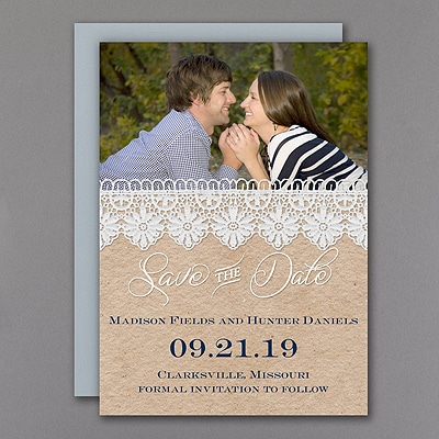 Romantic Lace - Save the Date Magnet