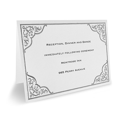 Silver Lace - Reception Card