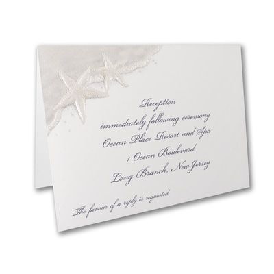 Seaside Love - Reception Card