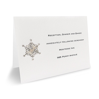 Shimmering Snowflake - Reception Card