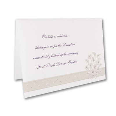 Passionate Lilies - Reception Card