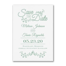 Delicate Flowers - Save the Date - White