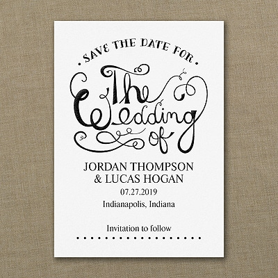 Celebrate the Wedding - Save the Date - White
