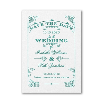 Magical Day - Save the Date - White