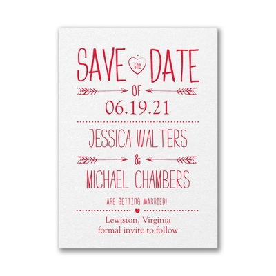 Modern Type - Save the Date - White