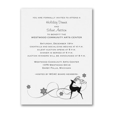 Reindeer Fun - Party Invitation - White