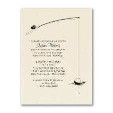 Fishing for Retirement - Party Invitation - Ecru