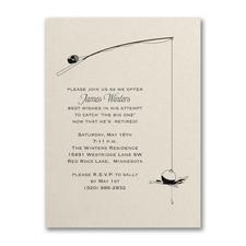 Fishing for Retirement - Party Invitation - Ecru Shimmer