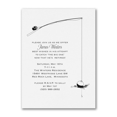 Fishing for Retirement - Party Invitation - White