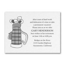 Time for Golf - Party Invitation - White Shimmer
