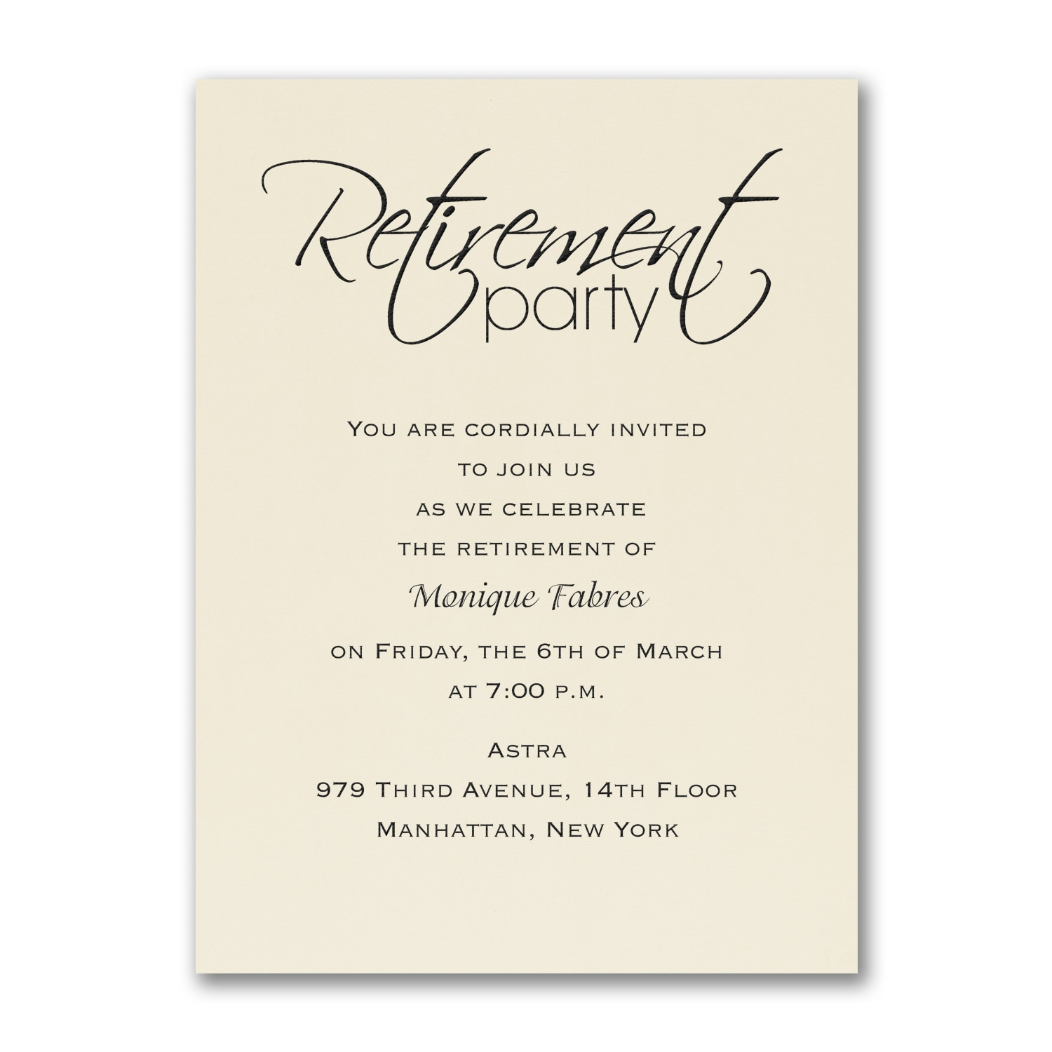 Retirement Invitations Parties Celebrations Carlson Craft
