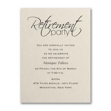Retirement Celebration - Party Invitation - Ecru Shimmer