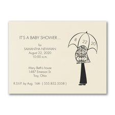Waiting for the Day - Baby Shower Invitation - Ecru