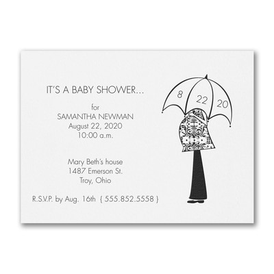 Waiting for the Day - Baby Shower Invitation - White