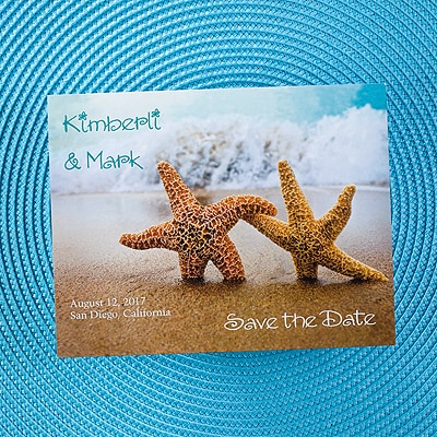 Starfish in the Sand - Save the Date Card