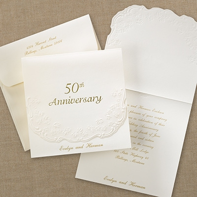 50th Anniversary Invitation Anniversary Invitations Carlson