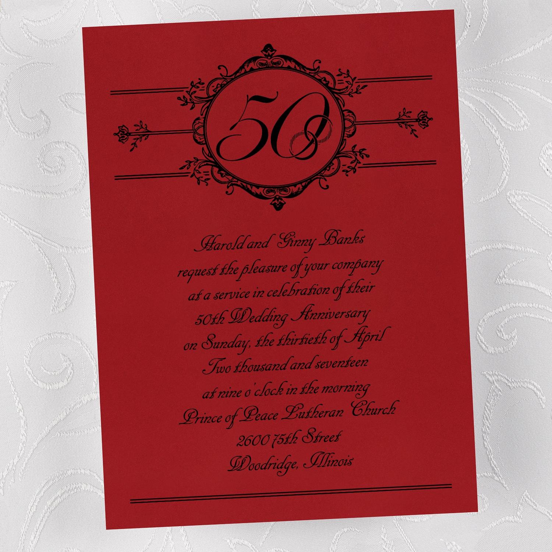 50th Anniversary - Invitation > Anniversary Invitations | Staples