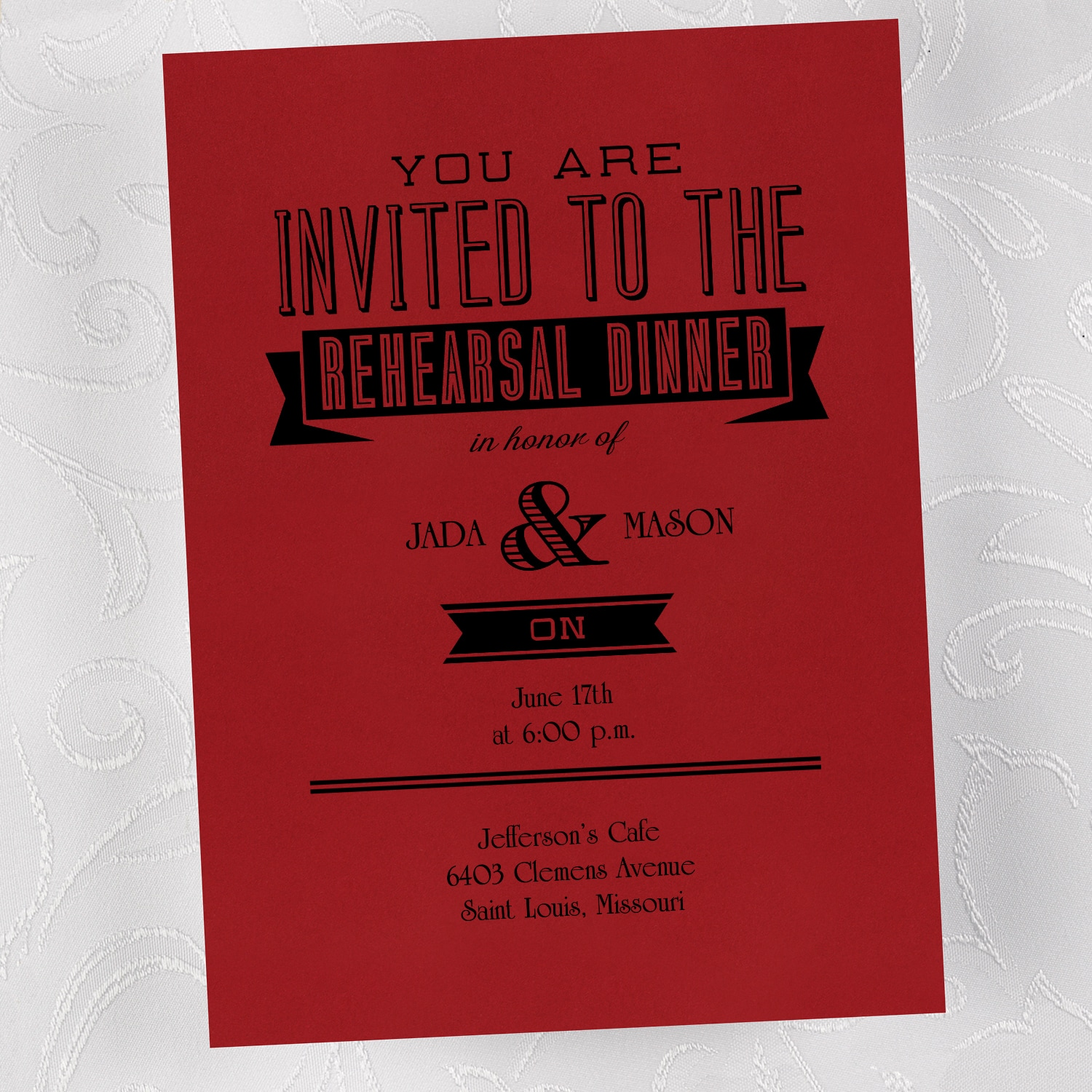 Rehearsal Dinner - Invitation > Rehearsal Dinner | Staples