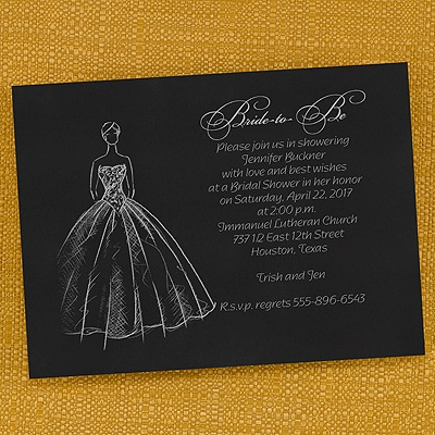 Shower Ball Gown - Invitation